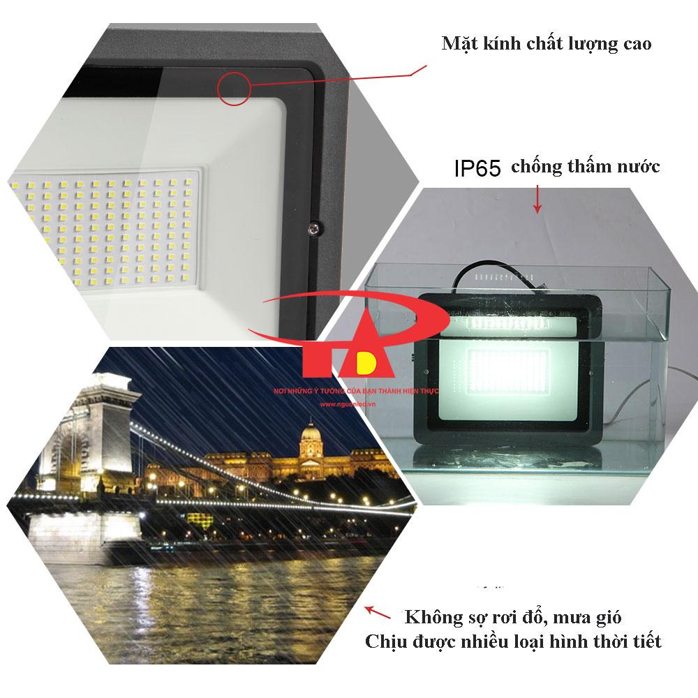 ưu điểm đèn led pha NLMT 100w chất lượng tốt