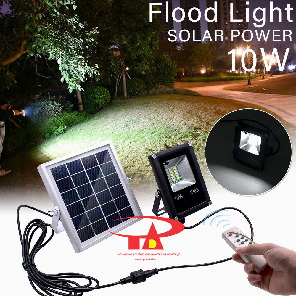 đèn led pha năng lượng mặt trời 10w giá rẻ, loại tốt