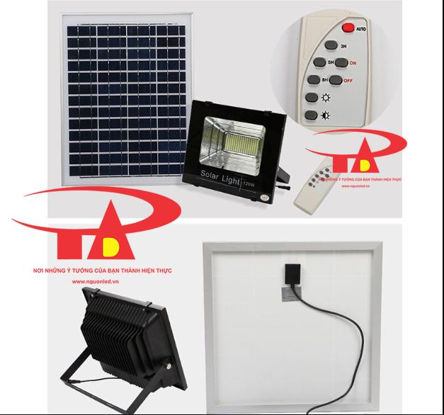 đèn led pha 120w chạy bằng năng lượng mặt trời tiết kiệm điện