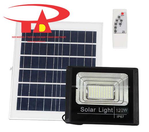 đèn pha led năng lượng mặt trời 120w chip siêu sáng