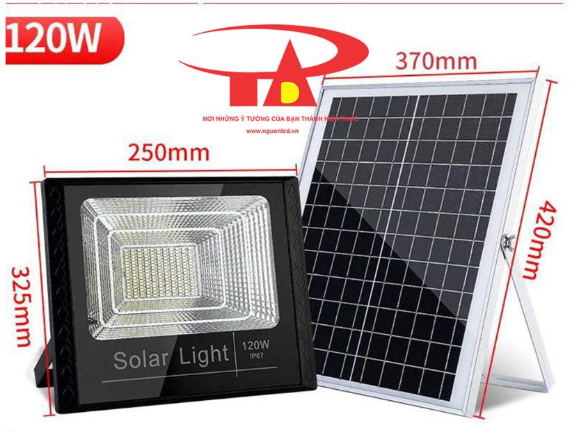đèn led pha sử dụng năng lượng mặt trời 120w hiệu suất tốt, chất lượng cao