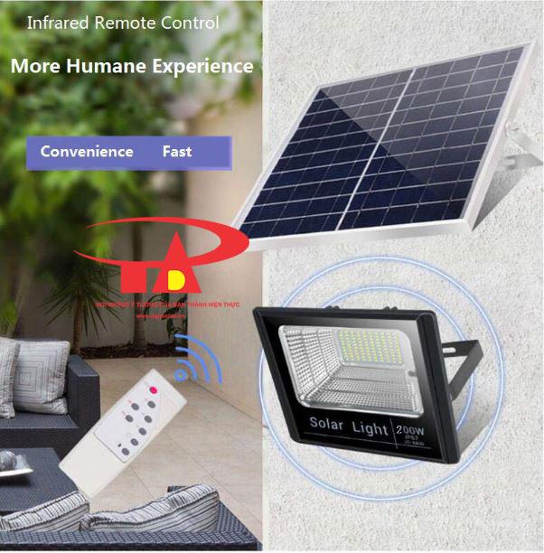 đèn pha led sử dụng năng lượng mặt trời 200w công suất cao, ánh sáng mạnh