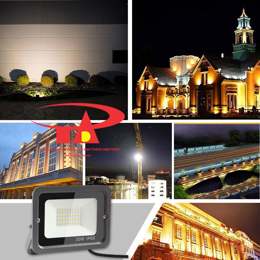 đèn pha led 30w sử dụng NLMT dùng để chiếu sáng công trình