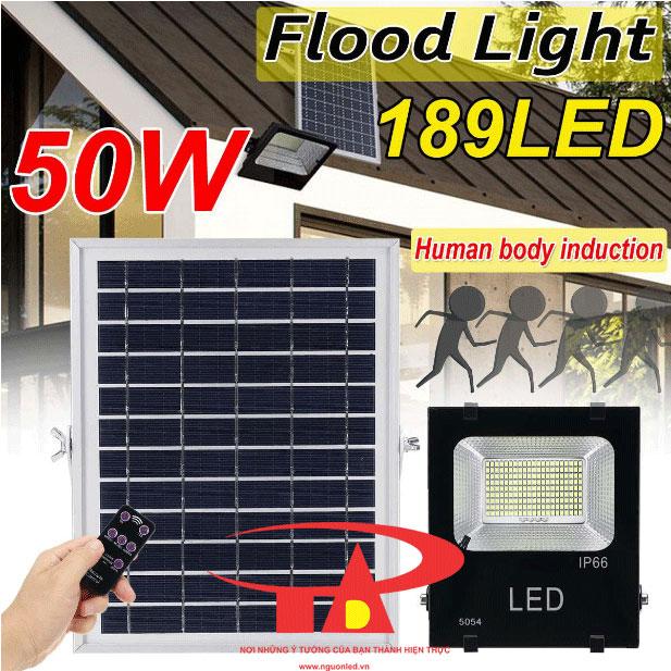 đèn pha led năng lượng mặt trời solar light 50w loại tốt