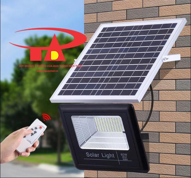 đèn led pha năng lượng mặt trời 60w chiết khấu cao, hàng chất lượng tốt