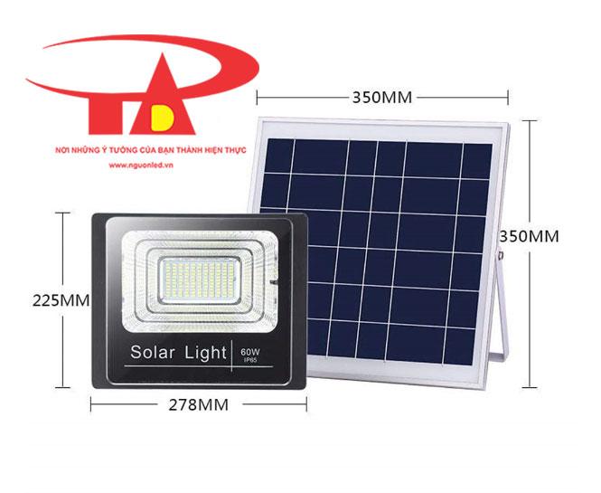 đèn led pha năng lượng mặt trời 60w hàng tốt, loại rẻ