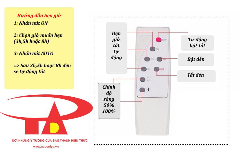 remote điều khiển hệ thống đèn led pha năng lượng mặt trời 10w siêu sáng