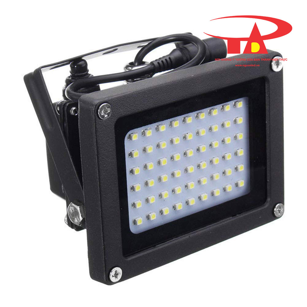 đèn pha led năng lượng mặt trời 54 led chống thấm nước, bền bỉ