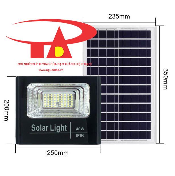 đèn pha led năng lượng mặt trời 40w hàng tốt, giá rẻ