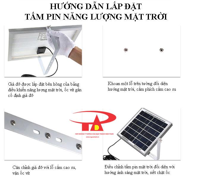 hướng dẫn lắp đặt tấm pin năng lượng loại tốt, công suất lớn