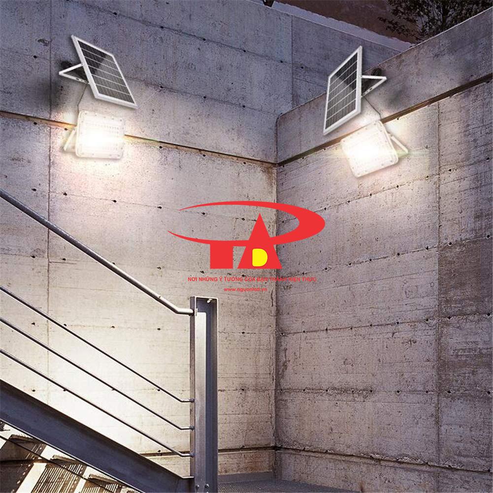đèn led pha năng lượng mặt trời 60w ứng dụng trong chiếu sáng ngoài trời
