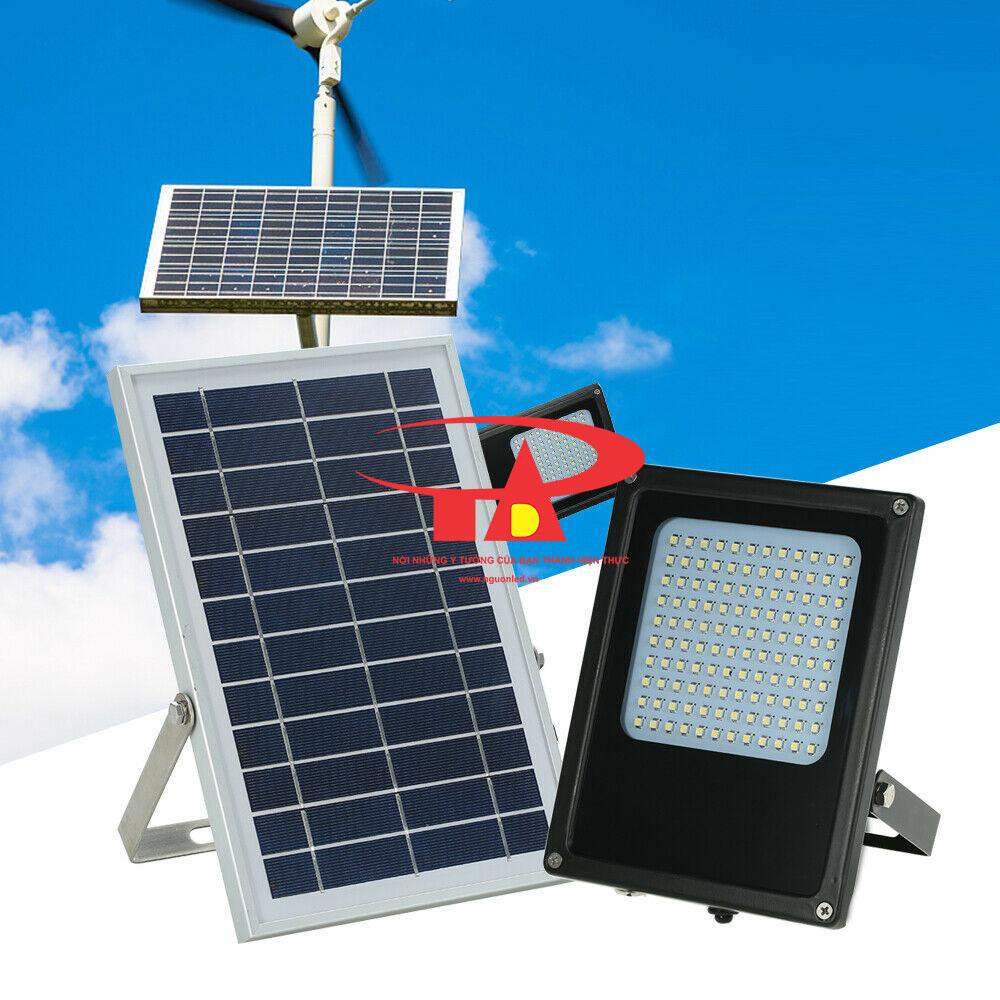 đèn pha led năng lượng mặt trời 120 led chống thấm nước, tuổi thọ cao