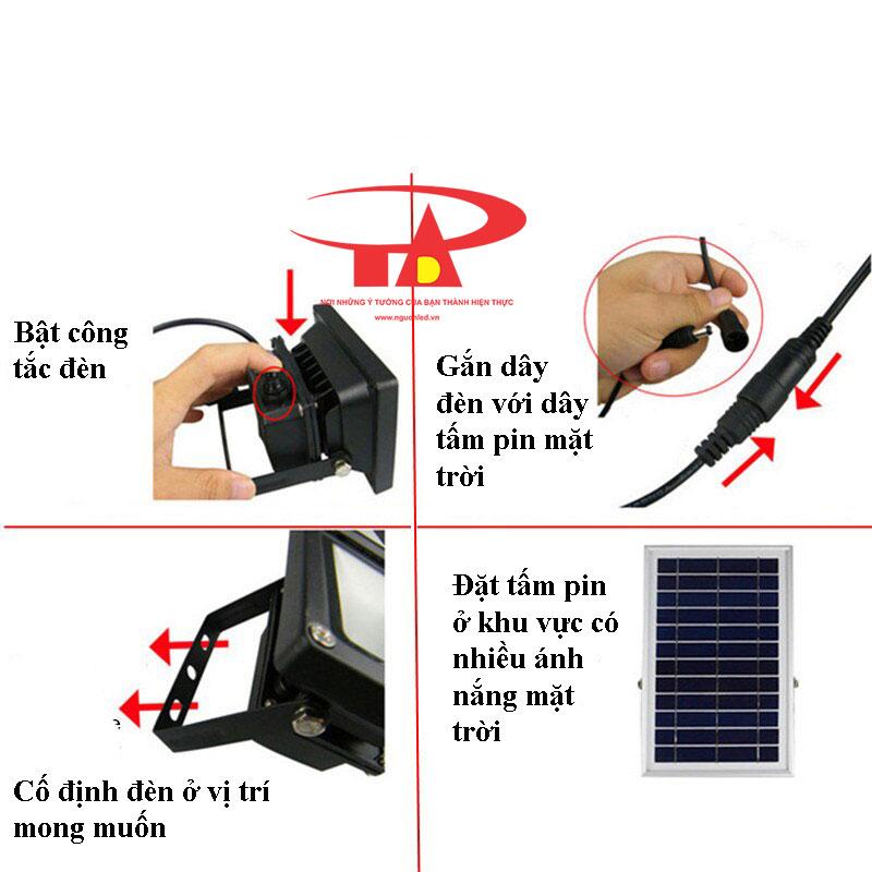 hướng dẫn lắp đặt đèn led pha NLMT 120 led siêu bền