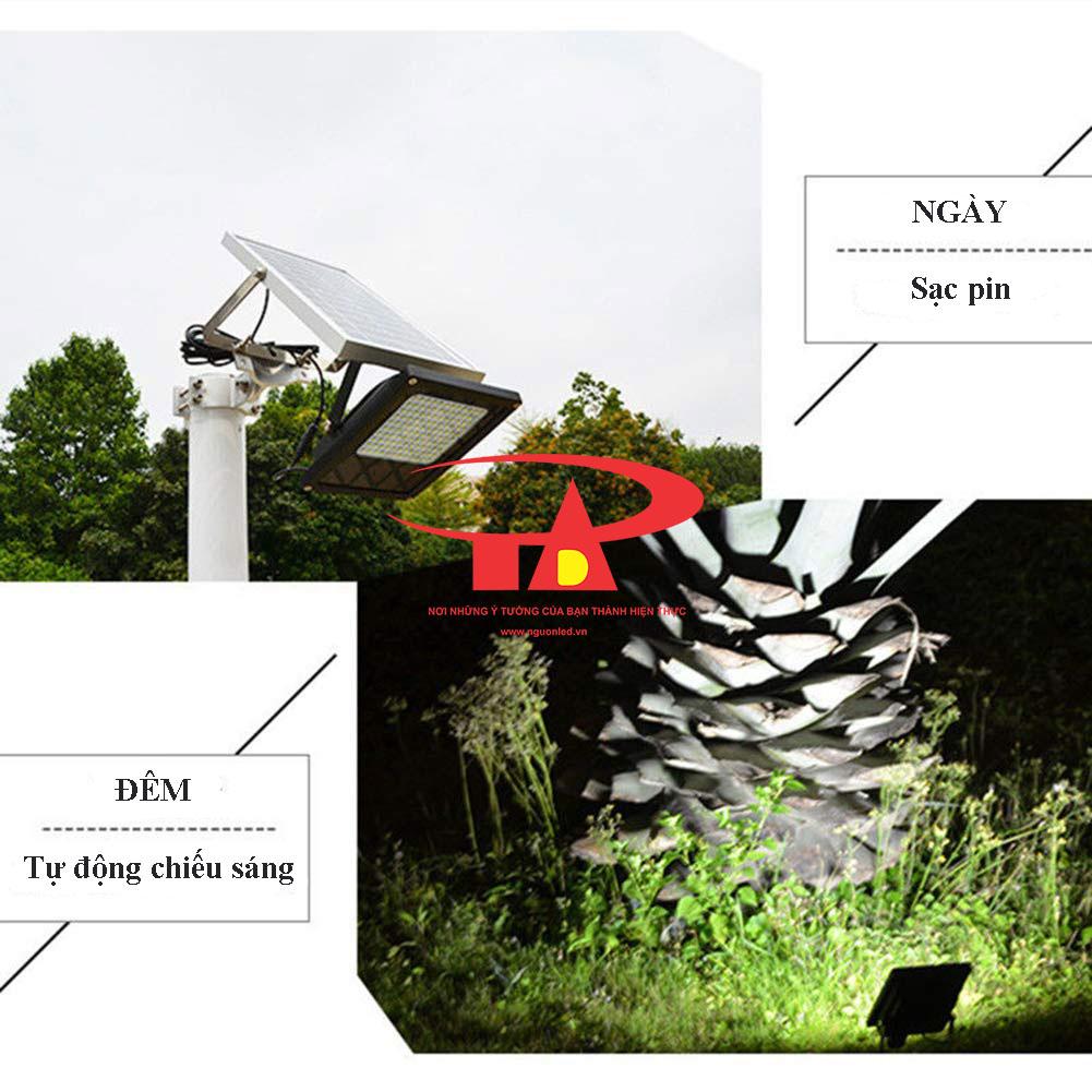 nguyên tắc hoạt động của đèn led pha năng lượng mặt trời 150 led chống thấm nước
