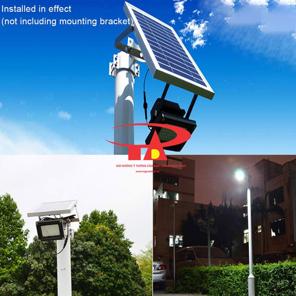ứng dụng đèn led pha năng lượng mặt trời 120 led loại tốt, chiết khấu cao