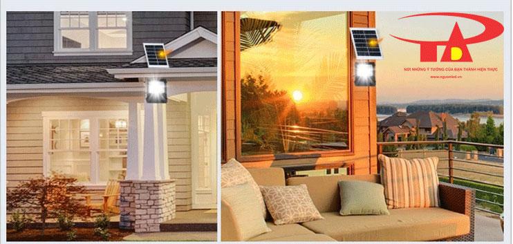 đèn pha led năng lượng mặt trời 30w chiếu sáng nhà cửa, sân vườn