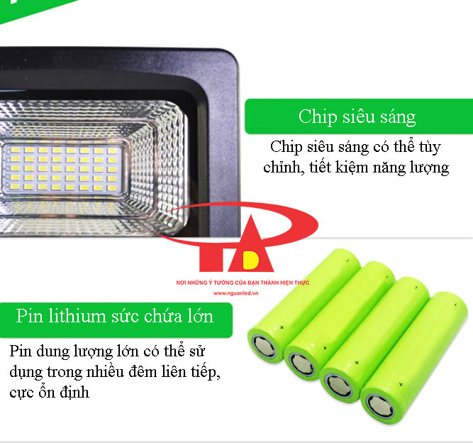 ưu điểm đèn led pha năng lượng mặt trời 50w loại tốt