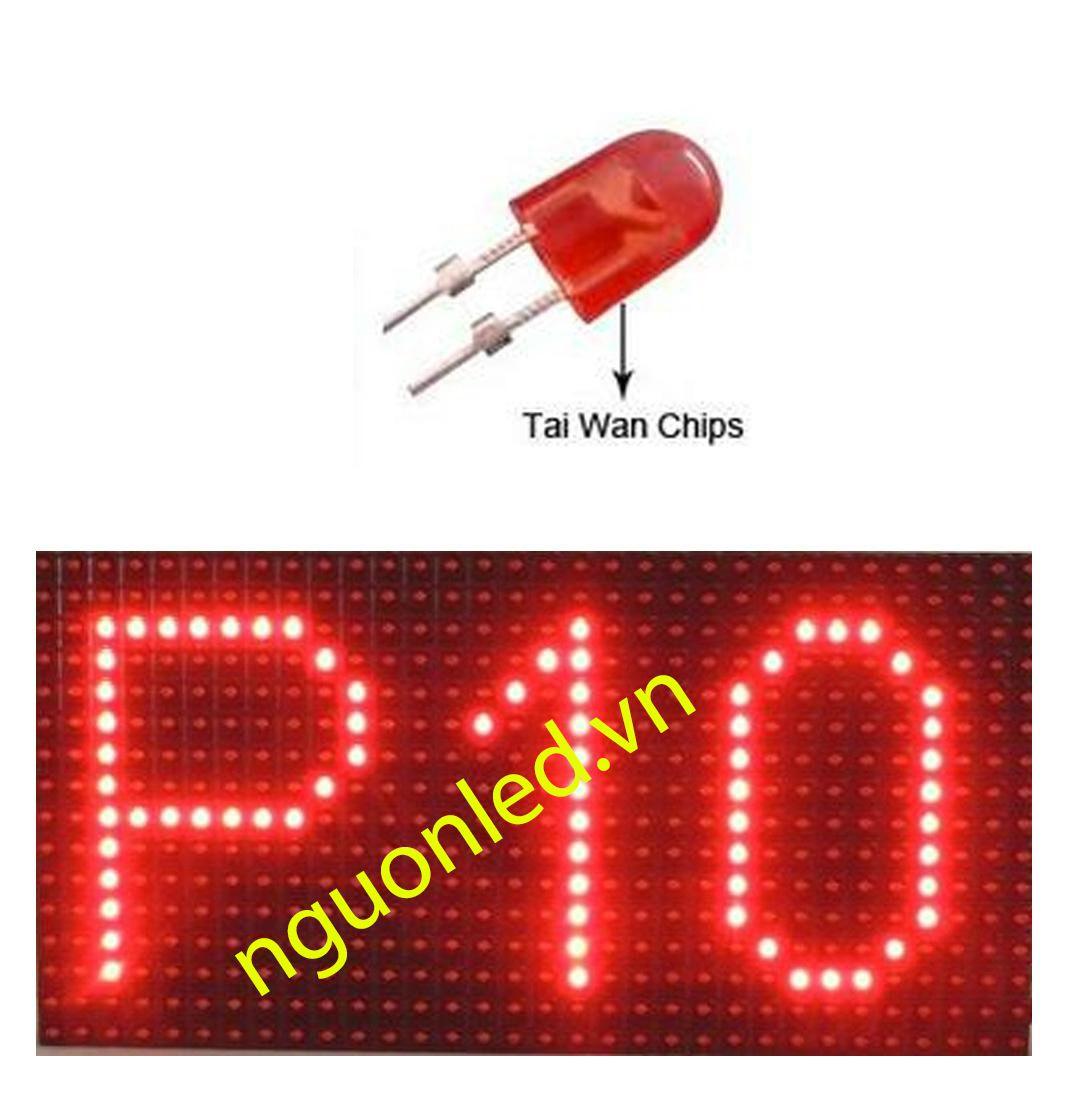 Module P10 ngoài trời màu đỏ loại tốt, giá rẻ mua tại nguonled.vn