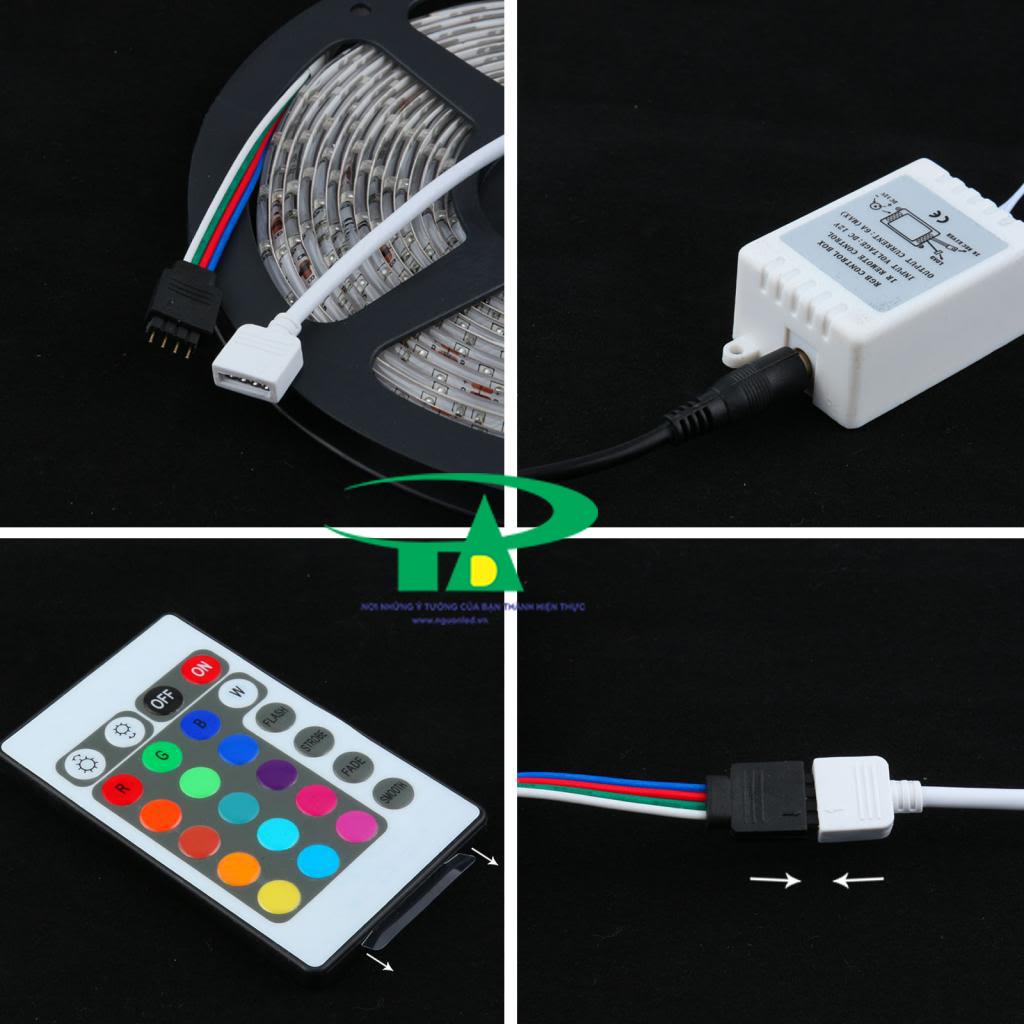 Cách đấu nối led dây