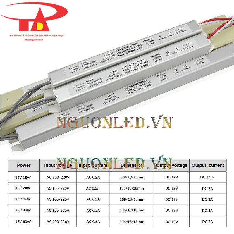 Nguồn đũa 12V 3A cao cấp, tại nguonled.vn