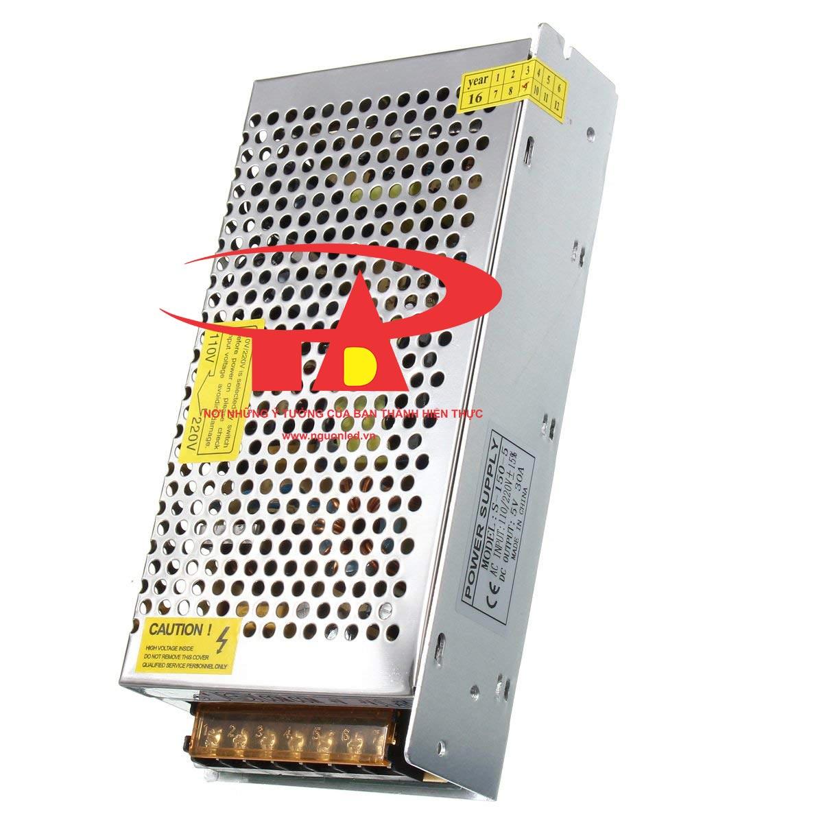 Nguồn led 5V 30A loại tốt, giá rẻ, đủ ampe, BH 1 năm tại nguonled.vn