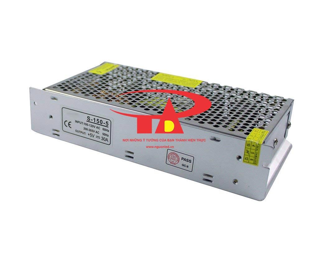 Nguồn led 5V 30A loại tốt, giá rẻ, đủ ampe, dùng cho led module p10, bóng led đúc, tự động hóa, camera, nguonled.vn