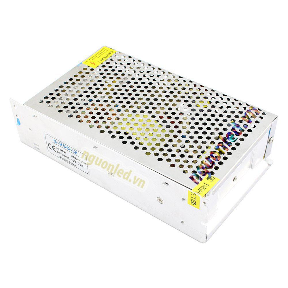Nguồn led 12v 20A loại tốt dùng cho camera, đèn led và điện công nghiệp mua tại nguonled.net