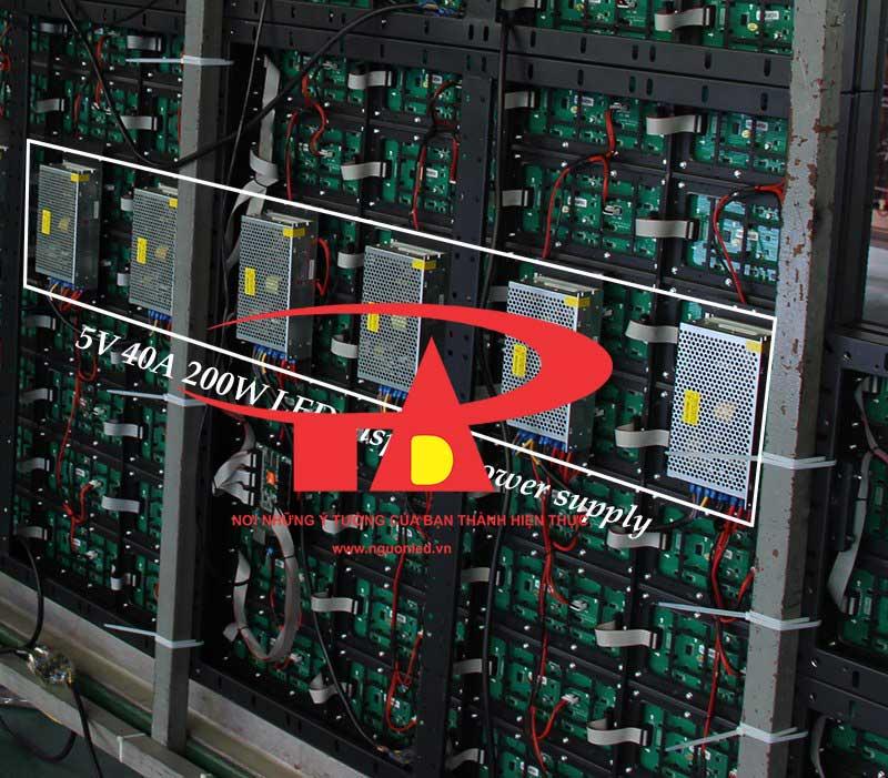 Bộ nguồn DC5V 40A không quạt, loại tốt, giá rẻ BH 1 năm, nguonled.vn