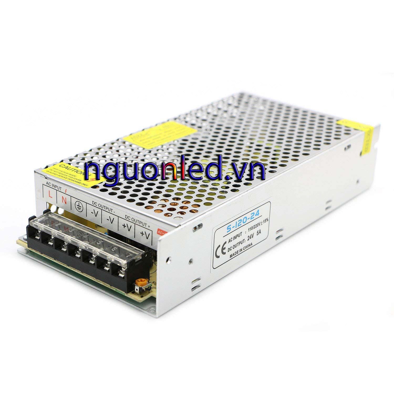 Nguồn led 24v 5A loại tốt dùng cho camera, đèn led và điện công nghiệp