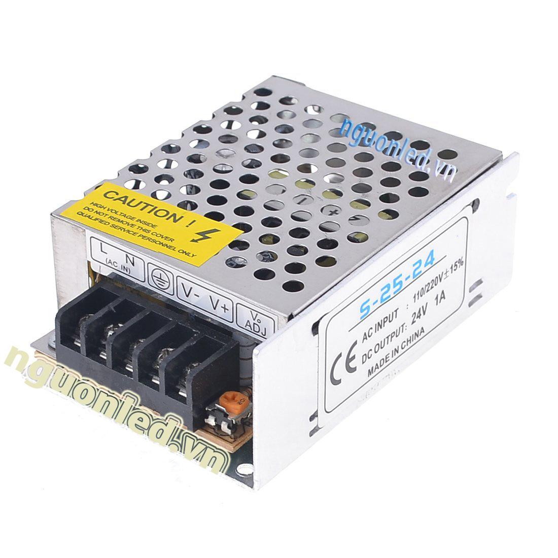 Bộ nguồn 24V 1A loại tốt dùng cho camera, đèn led và điện công nghiệp mua tại nguonled.vn