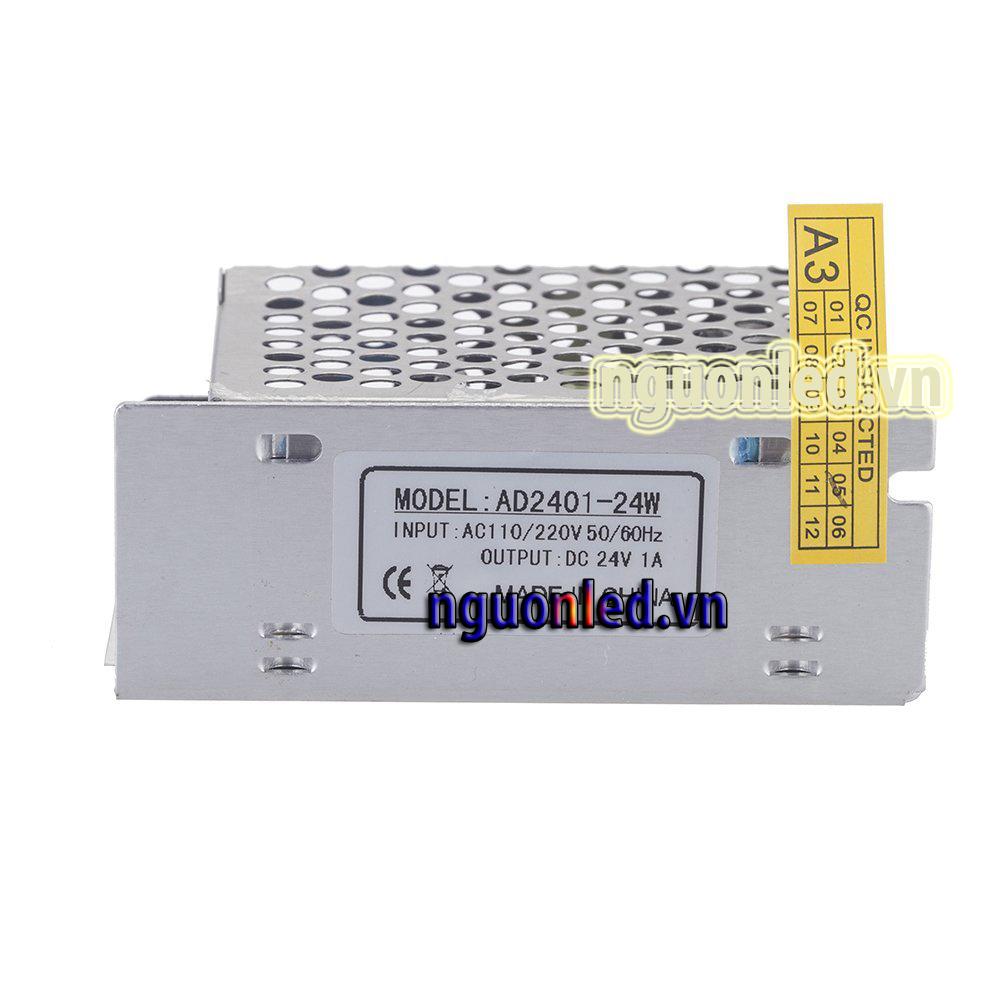 Nguồn led 24v 1a loại tốt dùng cho camera, đèn led và điện công nghiệp mua nguồn 12V tại nguonled.vn