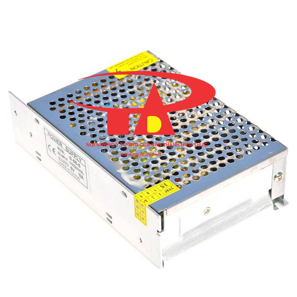 Nguồn DC5V 10A loại tốt, giá rẻ, chất lượng, đủ Ampe, BH 1 năm, dùng cấp nguồn 5V cho đèn led, camera, bơm mini, tự động hóa