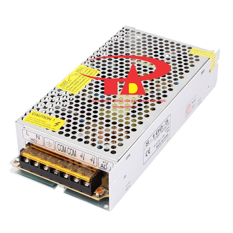 Nguồn DC5V 20A loại tốt, giá rẻ, chất lượng, đủ ampe, dùng cho tự động hóa, camera, đèn led, nguonled.vn
