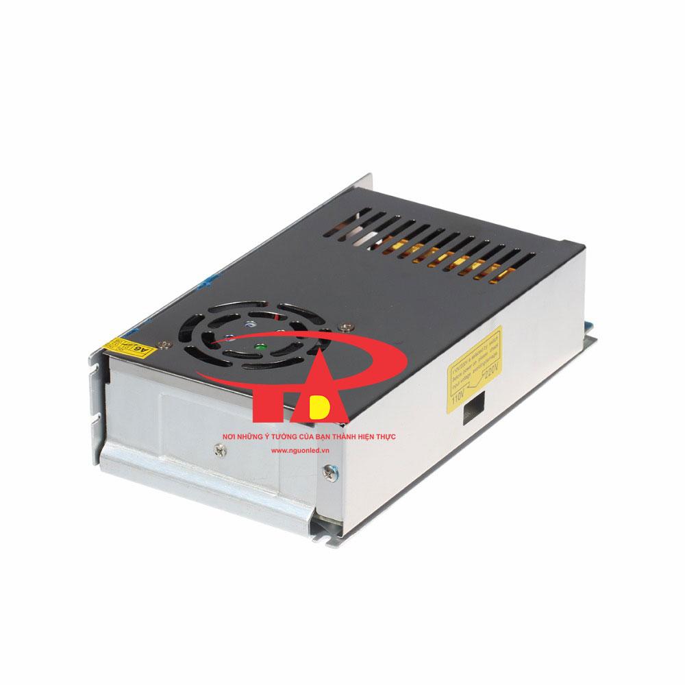 Nguồn DC12V 20A có quạt, loại tốt, giá rẻ, đủ ampe dùng cho camera, đèn led, mua tại nguonled.vn