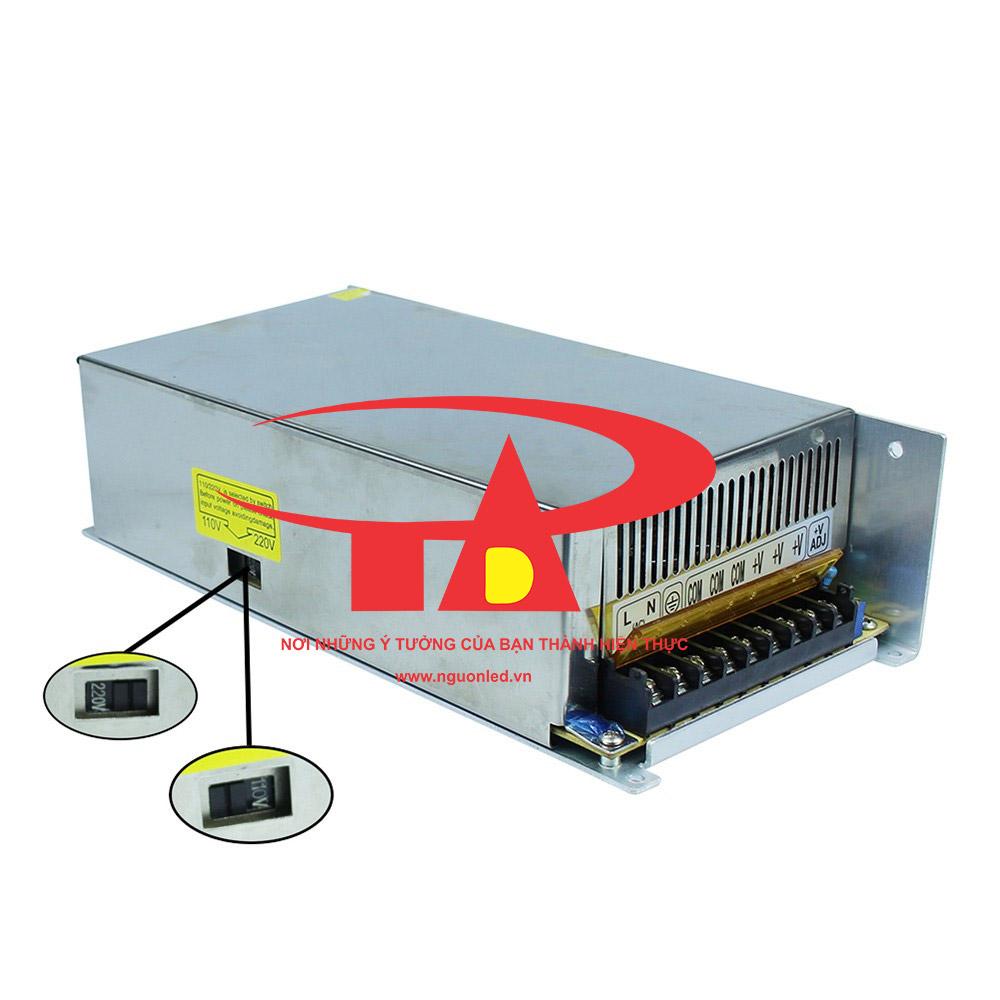 Bộ nguồn DC12V 40A loại tốt, đủ ampe, giá rẻ, chất lượng, có quạt, dùng cho camera, đèn led, nguonled.v