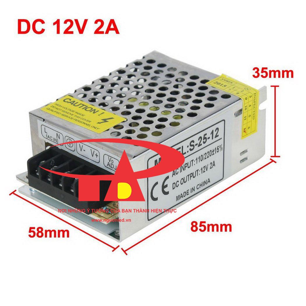 Nguồn tổng camera 12V 2A loại tốt, bảo hành 1 năm tại nguonled.vn