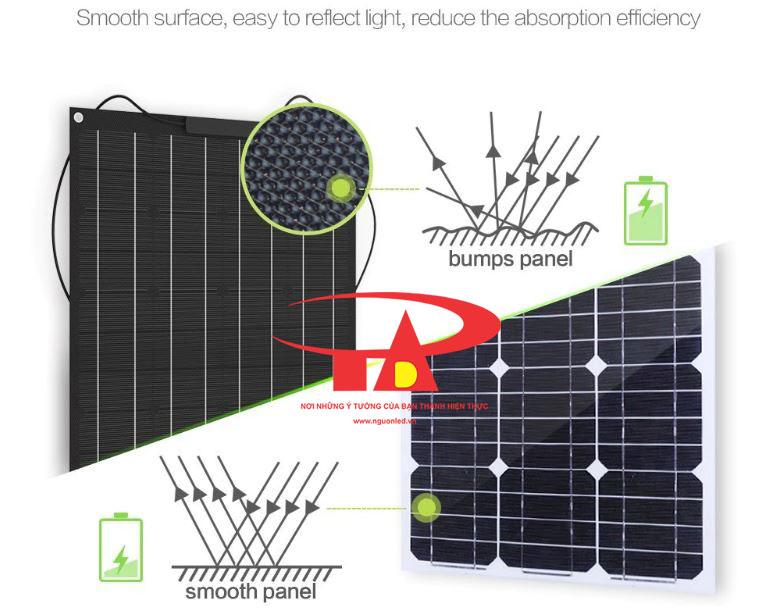 tấm pin năng lượng mặt trời 100w chất lượng cao, hoạt động tốt