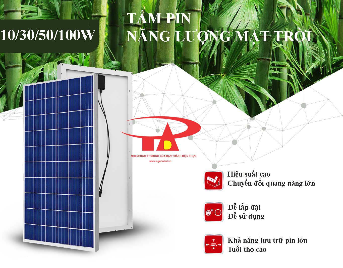 tấm pin năng lượng mặt trời 100w công suất tốt, hiệu suất cao