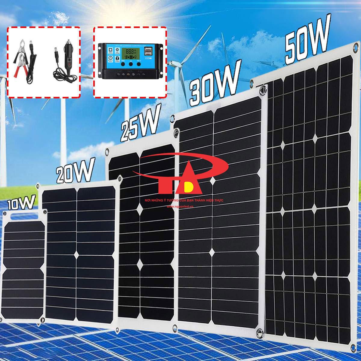tấm pin năng lượng mặt trời 50w dùng cho thiết bị điện