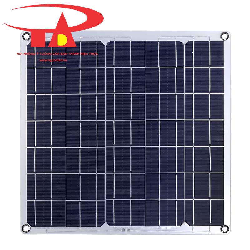 tấm pin năng lượng mặt trời áp mái 100w siêu bền, chống thấm nước, giá rẻ
